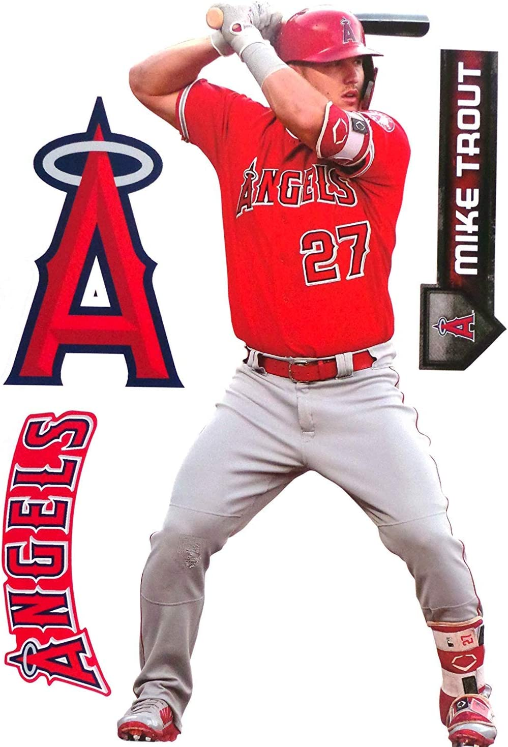 Mike Trout Angels Mvp Ad Panel 4 X 6 Fathead Mlb Wall Graphics Vinyl Decal Ebay