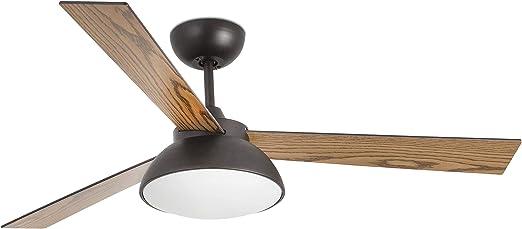 FARO BARCELONA 33523 - RODAS LED Ventilador de Techo marrón con Motor DC: Amazon.es: Hogar
