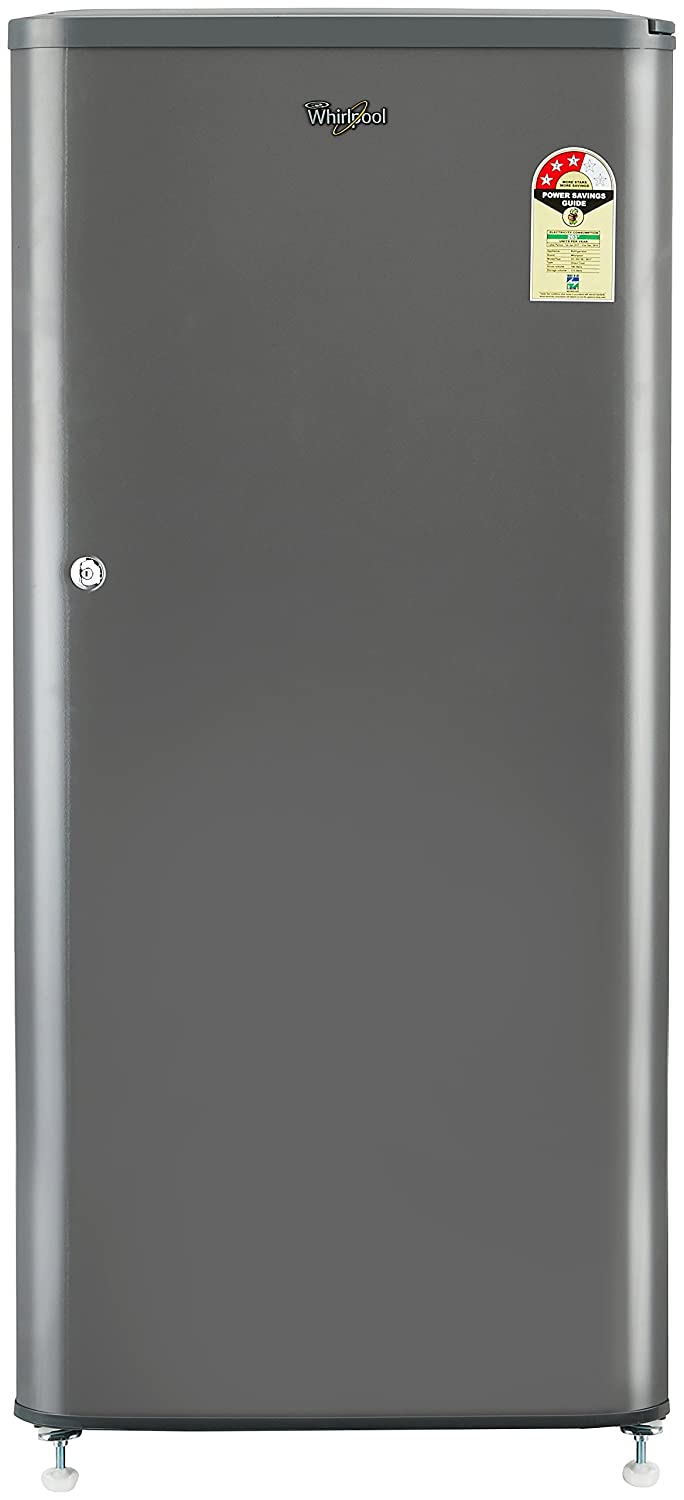 Whirlpool 190L 3 Star Direct Cool Single Door Refrigerator (WDE 205 CLS 3S GREY-E, Grey)