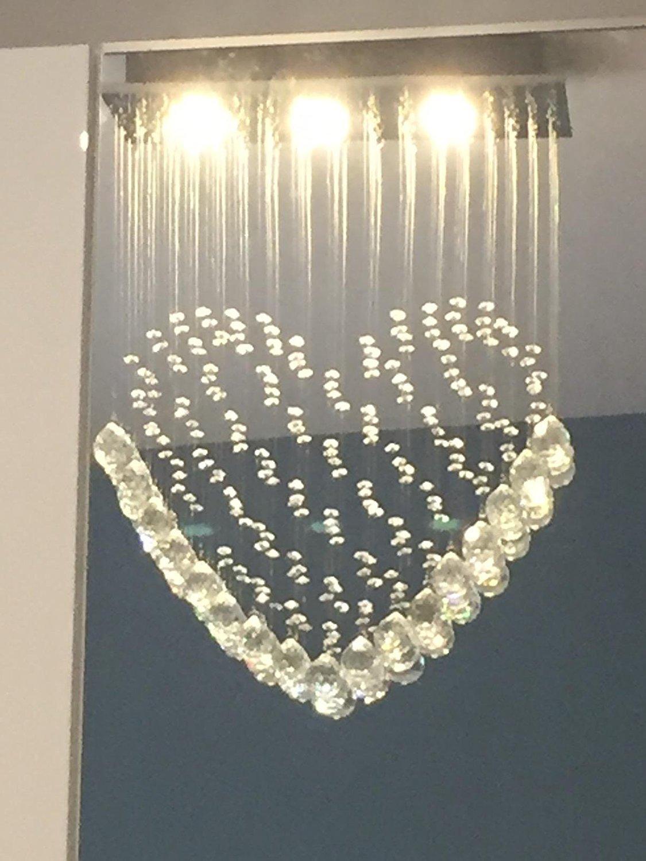 Kronleuchter Echtkristallglas in Herzform Herzform Herzform Moderne Deckenleuchte für Beleuchtung Deckenleuchte Kerzenständer SD 101 8c1cac