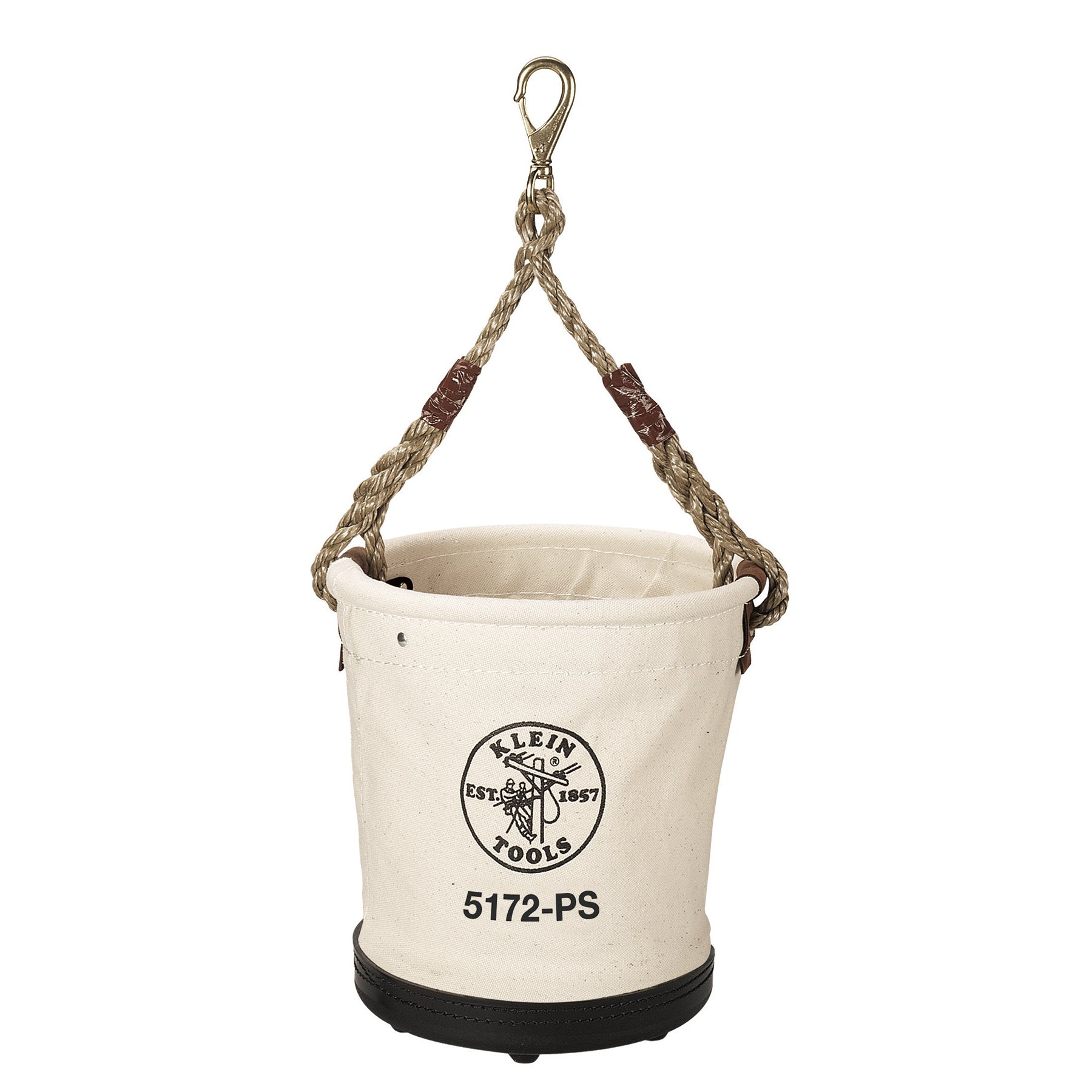 Heavy-Duty Tapered-Wall Bucket with 15 Inside Pockets, No. 4 Canvas Klein Tools 5172PS