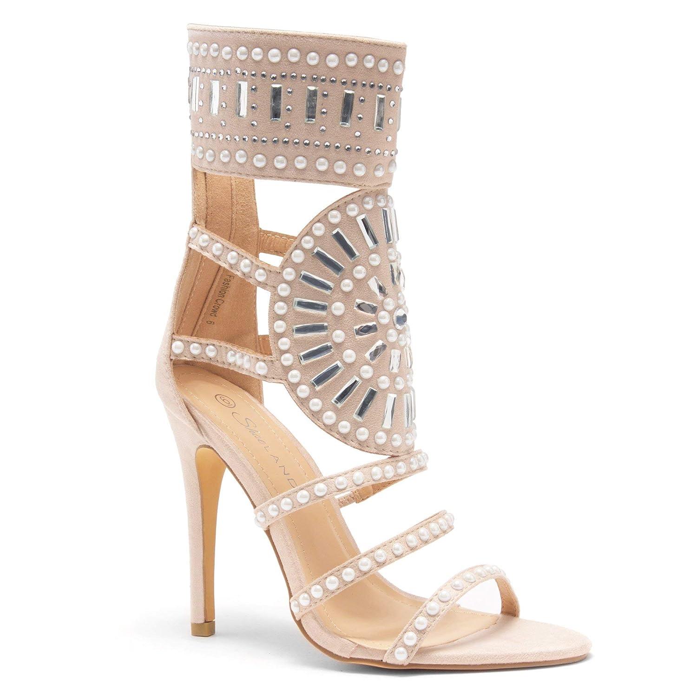 3af787fbad Herstyle Women's Fashion Crowd/Sunda Stiletto Heel, Jeweled Embellishment