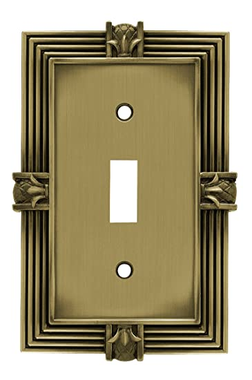 Franklin Brass 64474 Pineapple Single Toggle Switch Wall Plate / Switch  Plate / Cover, Tumbled