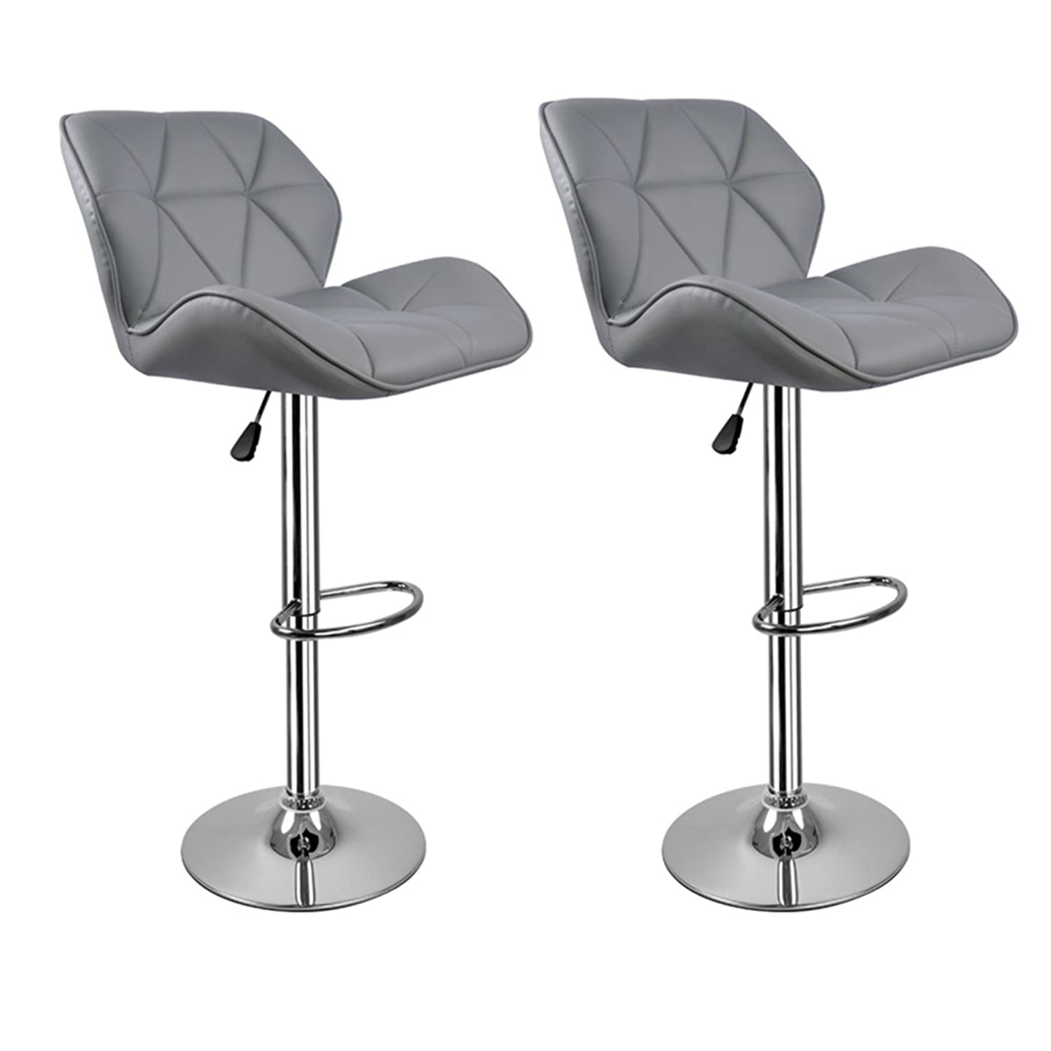 Grey Breakfast Bar Stools with backs Hollylife 2 x Modern Kitchen ...
