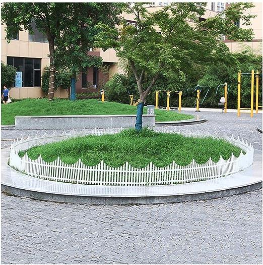 ZHANWEI Valla de jardín Bordura de jardín Blanco Césped Fronteras Decoración De Bordes PVC Interior Al Aire Libre Cama De Flores Barrera Animal, 3 Tamaños (Color : 80x53cm, Size : 1 PC): Amazon.es: Jardín