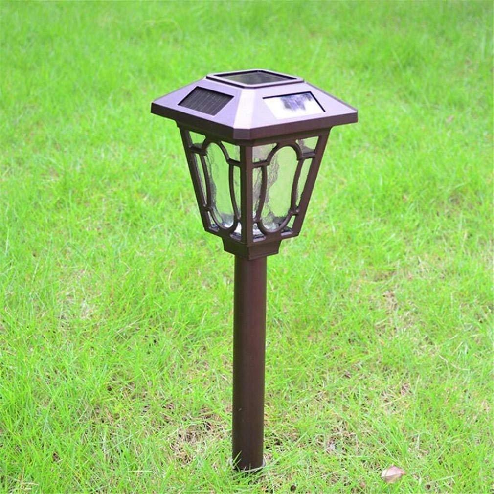 Eeayyygch Wasserdichte HauptSolar-Lampe 1LED 0.5w super helle Garten-Rasen-Licht-im Freienbeleuchtung-Europäische Garten-Straßenlaterne, warmes Weiß (Farbe   -, Größe   Weiß)