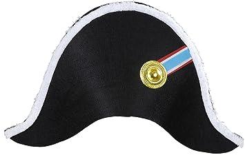 Widmann 01126 Hut Napoleon Fur Erwachsene Schwarz Amazon De