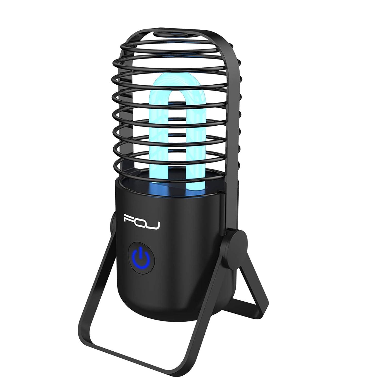 UV Sanitizer Lamp, Portable UV-C Air Purifier, Sterilizer Lamp Light, Remote control UV Ozone Disinfection Light Kill Bacterial Virus Mites for Room Odor Remover, Car, Fridge, Shoes Roche electronics