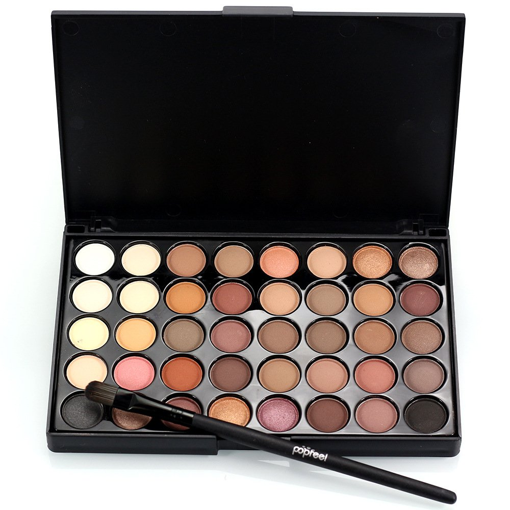 CYDNIE Women Professional 40 Colors Eyeshadow Waterproof Long-Lasting Not Fade Eye Shadow Palette Makeup Kit with Eyes Brush