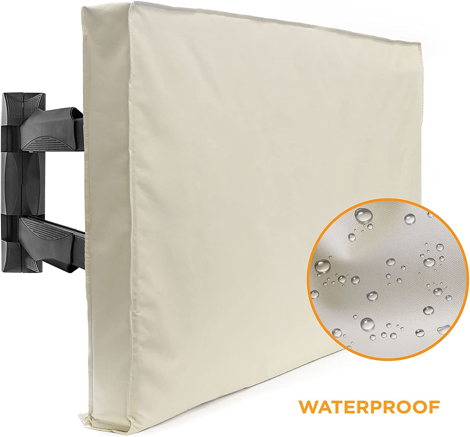 60 Model for 58-62 Flat Screens Black Weatherproof Weather Dust Resistant Television Protector Outdoor TV Cover Slim Fit