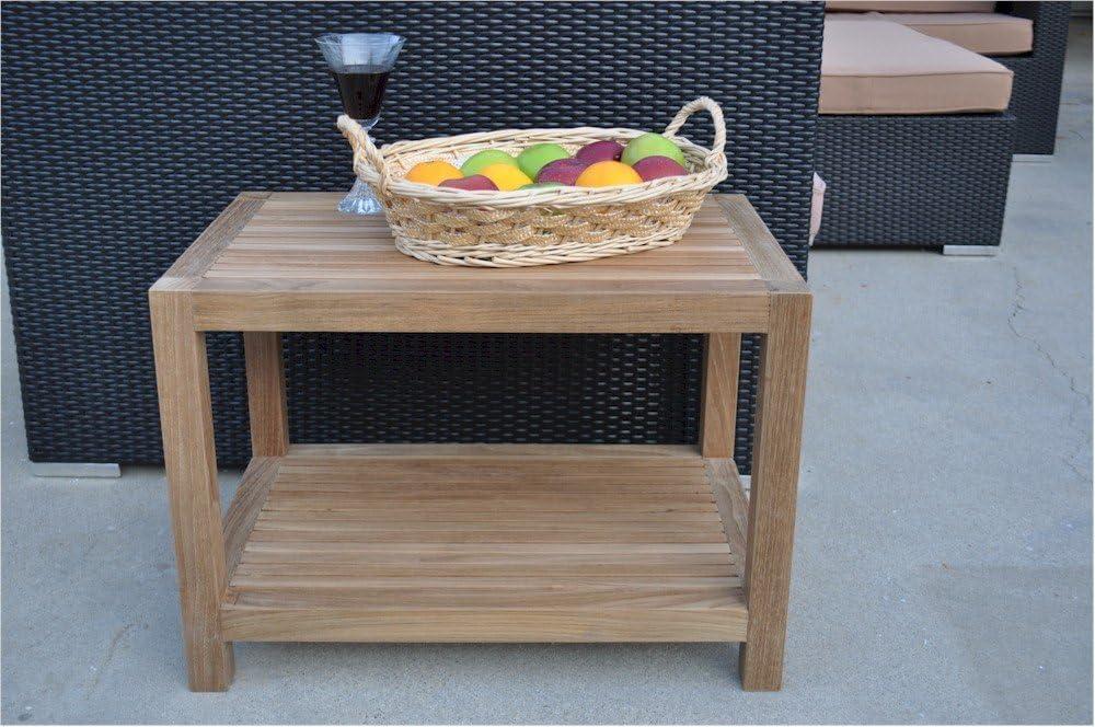 Anderson Teak Patio Lawn Garden Furniture Windsor Side Table 2-Tier
