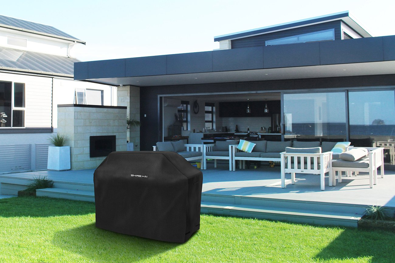 Amazon.com : SHINE HAI BBQ Grill Cover, 58-Inch Waterproof 600D ...