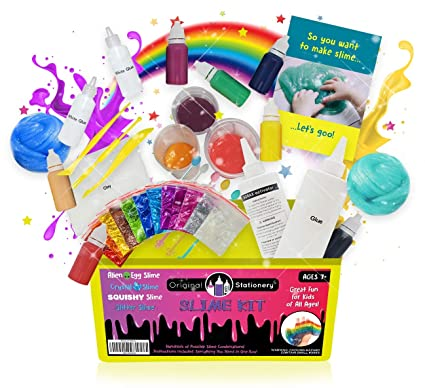 9d12a709 DIY Slime Kit for Girls Boys: Ultimate Slime Making Kit with Add Ins  Supplies for Alien Egg Slime, Crystal, Glitter, Unicorn and More - Fun  Slime Kits ...