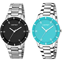 CARTNEY Analogue Black Dial Combo of 2 Women's & Girl's Watch - Cty-BSB-0108
