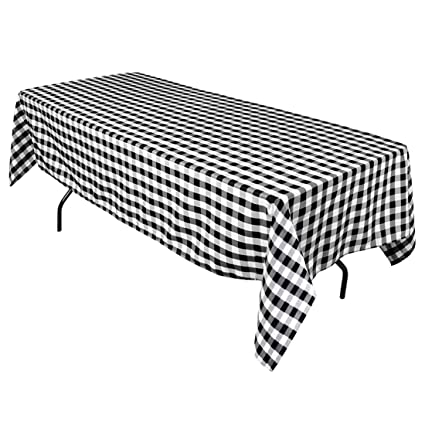 Good Rectangular Tablecloth Black U0026 White Checker