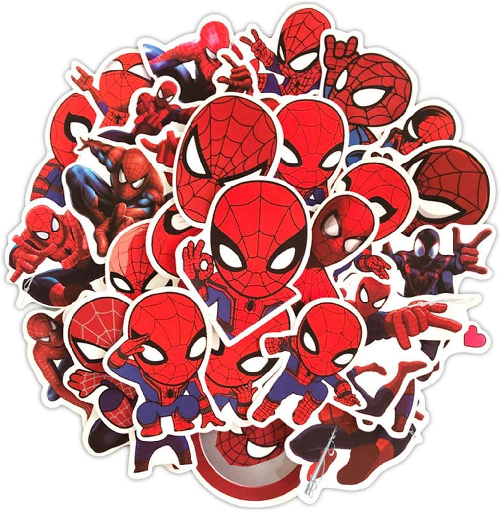 [FOCUS's Stickers]35Pcs Spiderman Stickers for Laptop Cellphone Water Bottle Hydro Flask Skateboard Luggage Car Bumper, etc FJHSL