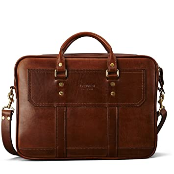 c1316836fef J.W Hulme Fremont Business Leather Briefcase and Organizer, American  Heritage