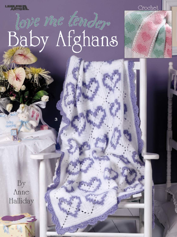 Love Me Tender Baby Afghans Leisure Arts 3323 Anne Halliday