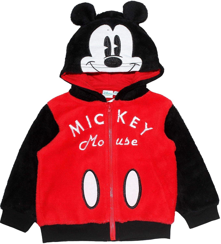 Disney Mickey Mouse Sweat-Shirt /à Capuche en Polaire pour b/éb/é gar/çon et Fille Motif Corail 3 Mois /à 24 Mois
