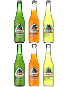 Jarritos Mexican Soft Soda Drink, Grapefruit, Mandarin, Lime - Variety Pack, 12oz Glass Bottle (Pack of 6, Total of 72 Fl Oz)