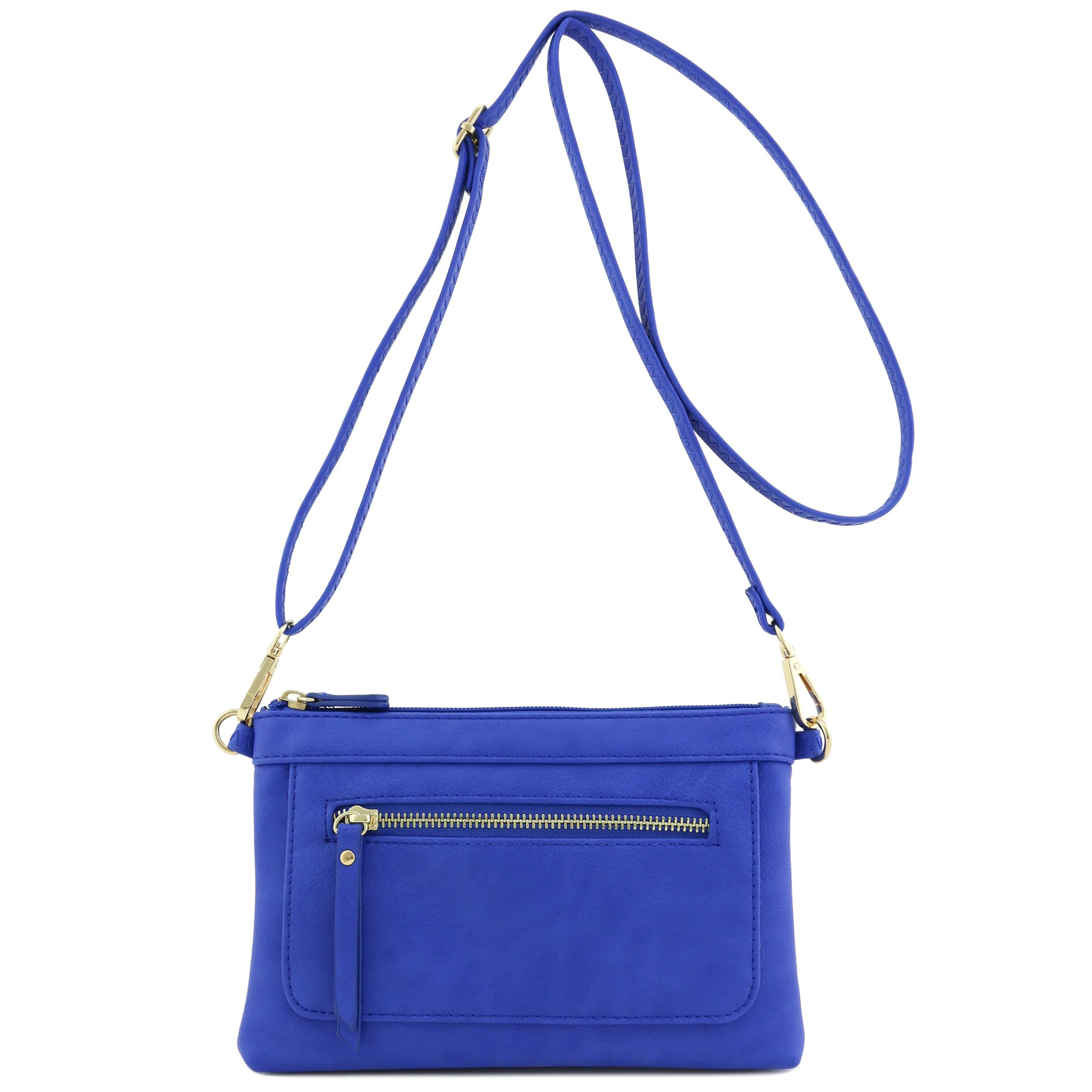 Multi-functional Wristlet Clutch and Crossbody Bag (Royal Blue)