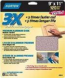 Norton Co. 2619 Norton 02619 3X Handy Aluminum-Oxide Sandpaper 120 Grit, 9 x 11-Inch, 3-Pack, quot