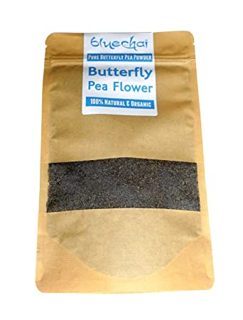Amazon.com : Organic Butterfly Pea Flower Powder - Natural Blue ...