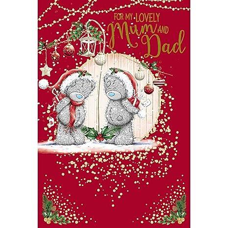 Me To You Tarjeta de Navidad - mamá y papá: Amazon.es ...