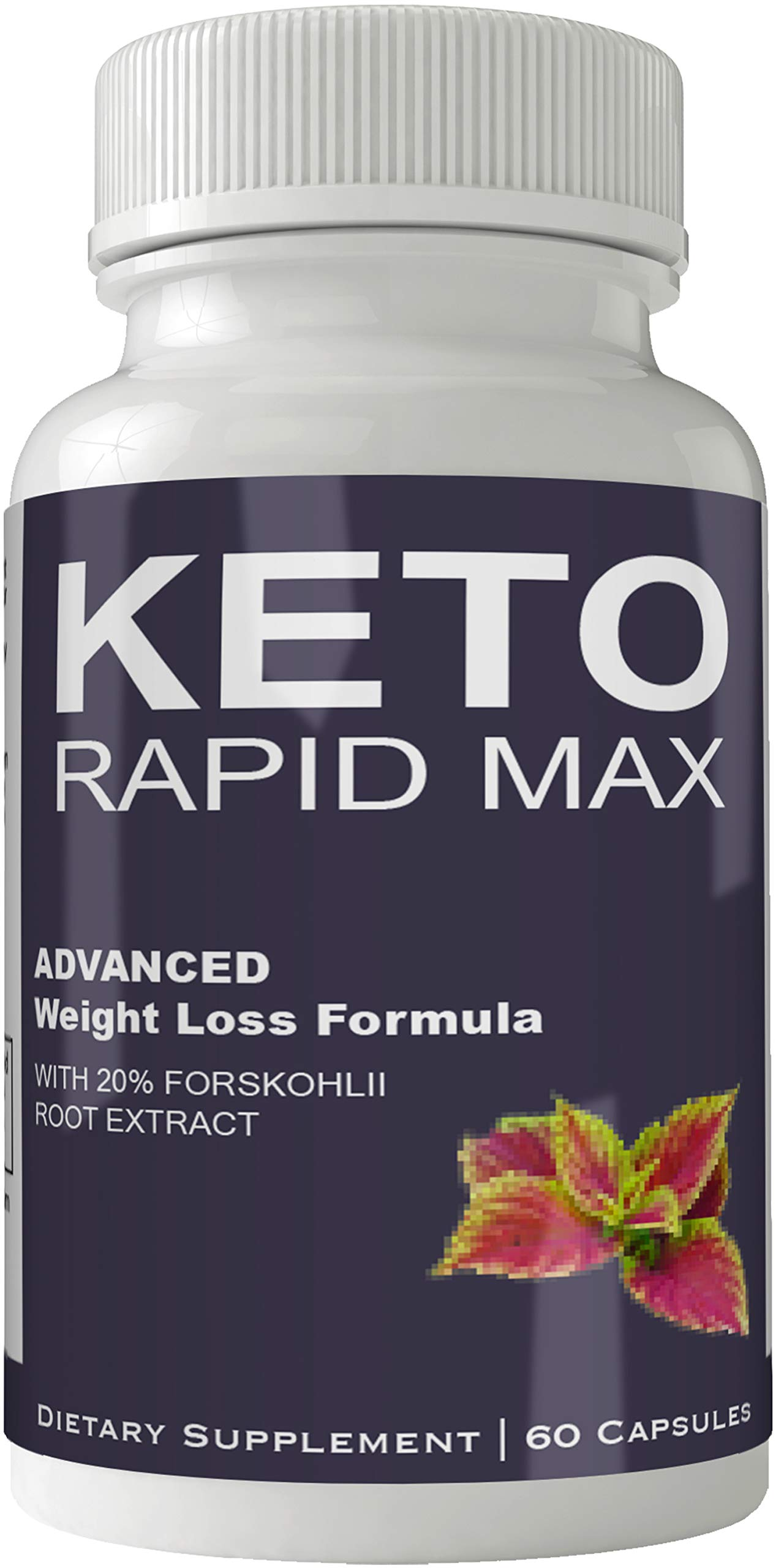 Keto Rapid Max Forskolin for Weight Loss Supplement Pills Ultra Formula with 250mg High Quality Natural Forskolii Extract Appetite Suppressant Tablets Boost Metabolism by nutra4health LLC (Image #1)