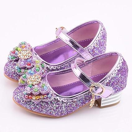 Chaussure Talon Fille Chaussure Princesse Enfant Sandales Bowknot Paillette F/ête Petite Fille