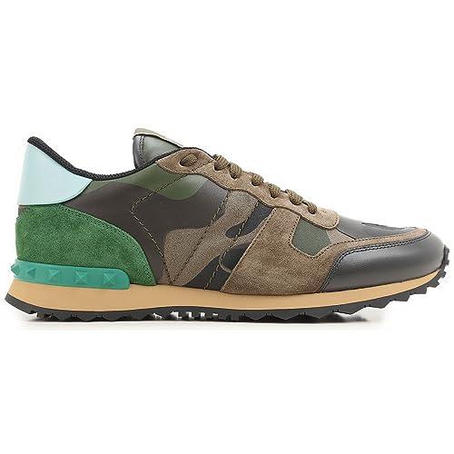 Valentino Garavani Hombre My0s0723tcck22 Marrón Cuero Zapatillas: Amazon.es: Zapatos y complementos