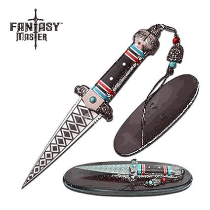 Amazon.com: Fantasy MASTER fnmfmt-050 Fixed cuchillo, ácido ...