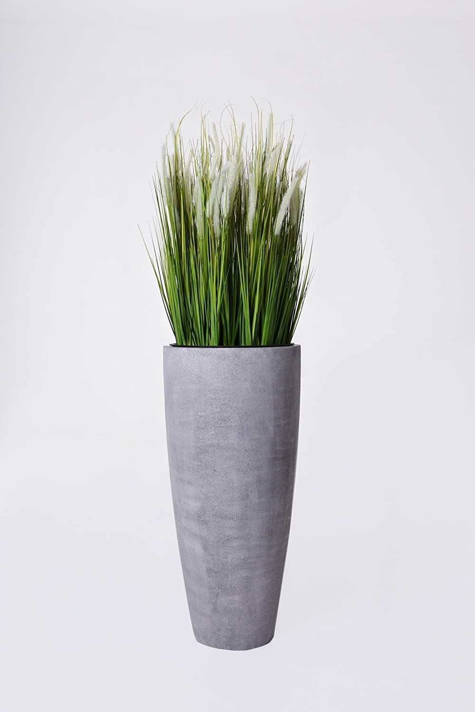 pflanzk bel blumenk bel city aus fiberglas 80 cm beton design grau g nstig online kaufen. Black Bedroom Furniture Sets. Home Design Ideas