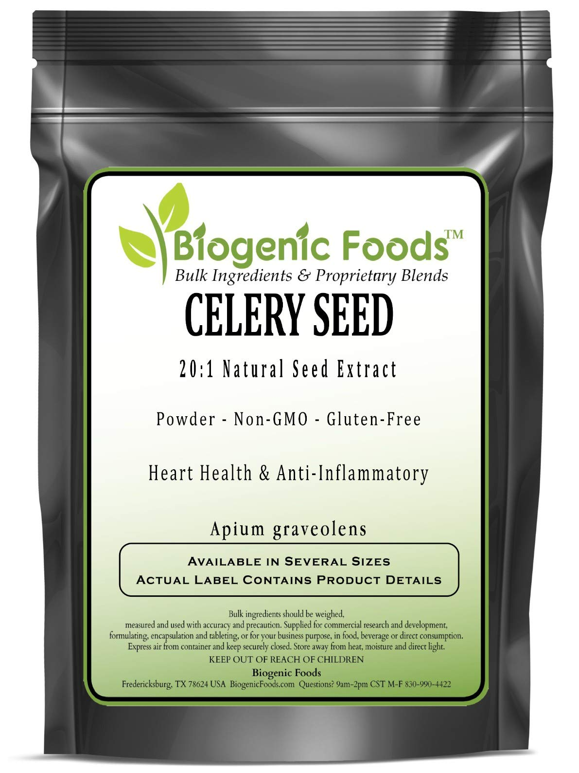 Celery Seed - 20:1 Natural Seed Powder Extract (Apium graveolens), 1 kg by Biogenic Foods (Image #1)