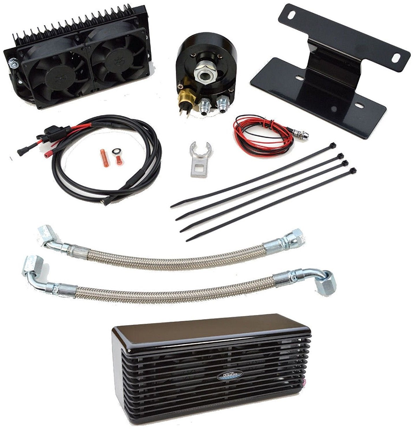 New Reefer 20 Ultracool Oil Cooler Harley Flh Flt 09 16 Selang Cooller Glossy Black Ultra Cool Automotive