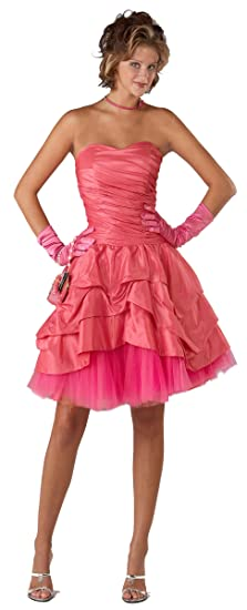 Fabulous Strapless Pink Prom Dress (UK16)