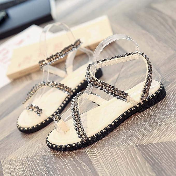 Yvelands Mujeres Liquidación Damas Moda Cristal Bling Punta Redonda Plana Casual Mocasines Sandalias Zapatos: Amazon.es: Ropa y accesorios