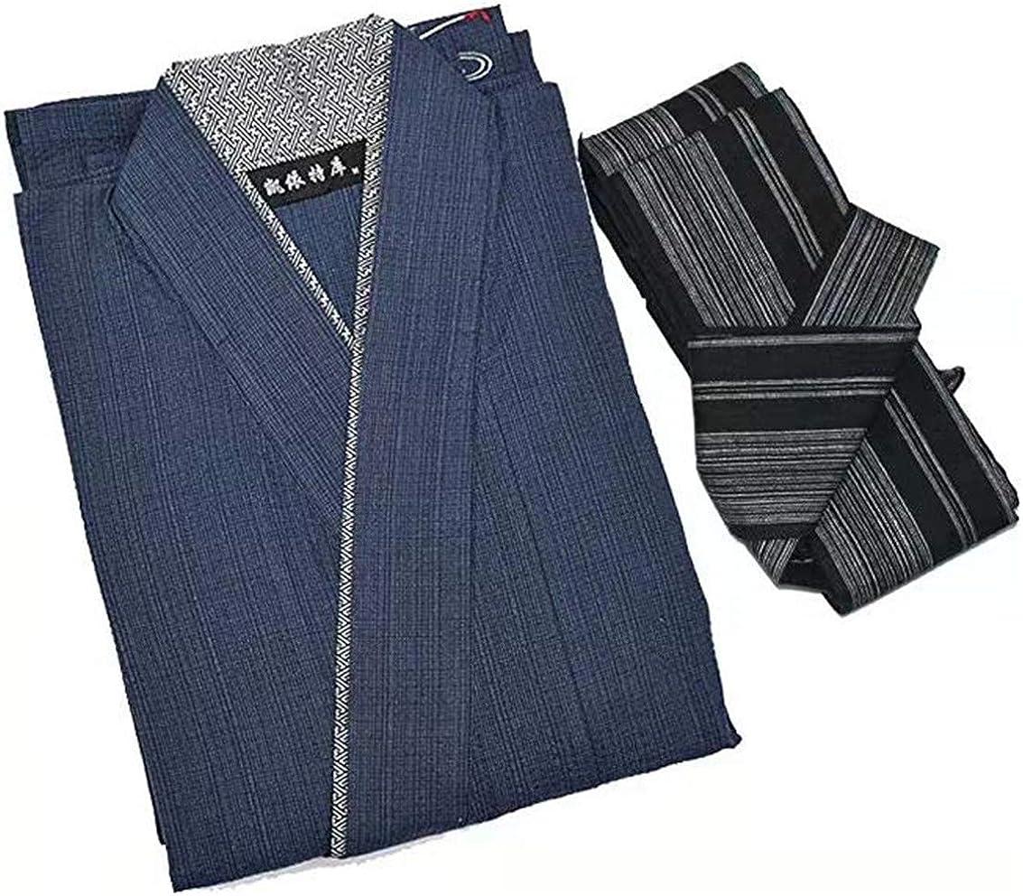 Double Villages Accappatoio da uomo giapponese Yukata Kimono Robe Pyjama Yukata Robe