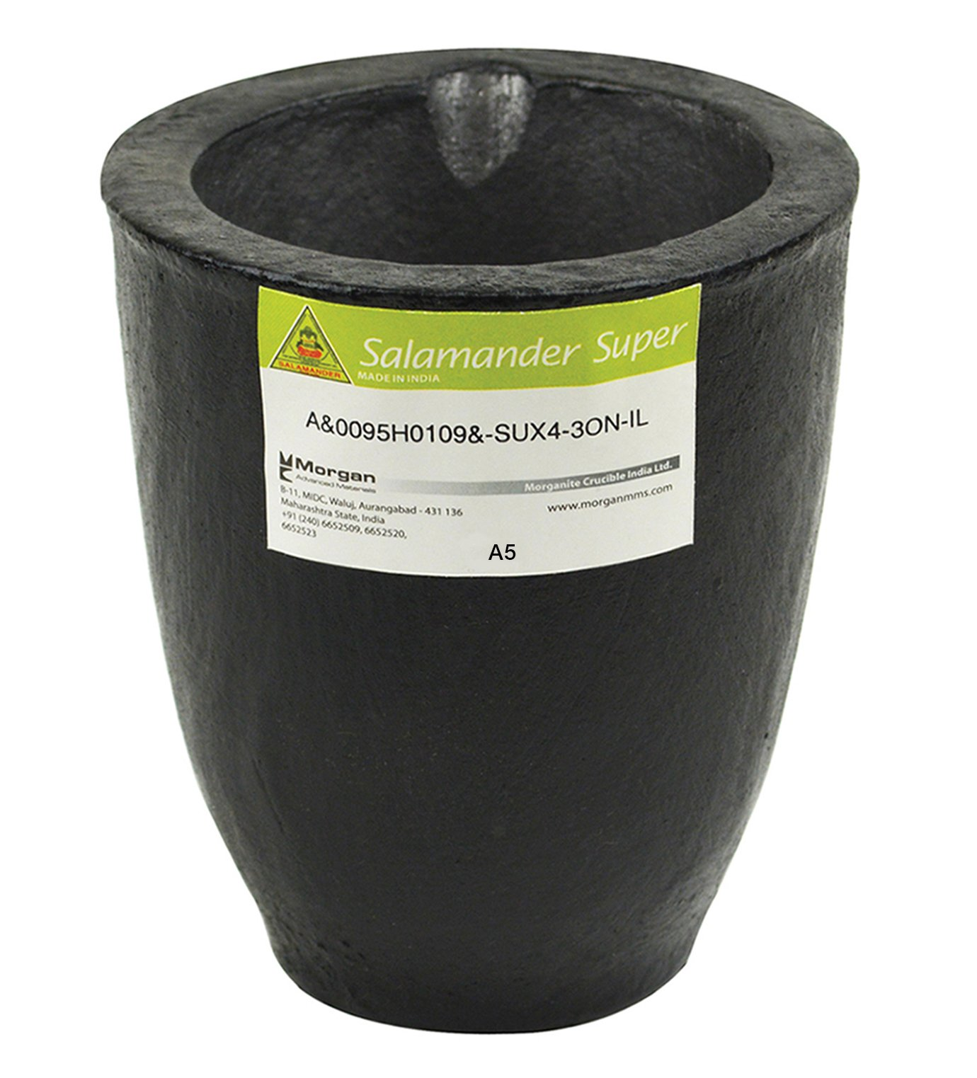 A5-6.8 Kg Salamander Super Clay Graphite Crucible for Precious Metal Melting Casting Gold Brass Silver Refining by PMC Supplies LLC