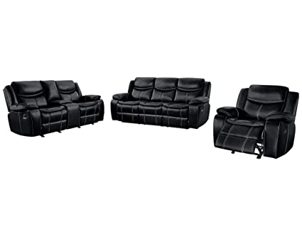 Stupendous Amazon Com Bogo 3Pc Double Reclining Sofa Center Console Frankydiablos Diy Chair Ideas Frankydiabloscom