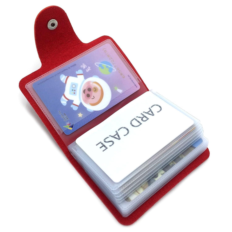 Porte-cartes de Crédit pour les Femmes Homme - 24 Fentes (Bleu)