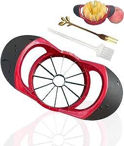 Apple Slicer, FORD SAM 12-Blade Apple Corer, Stainless Steel Apple Cutter, Wedger, Pitter, Divider