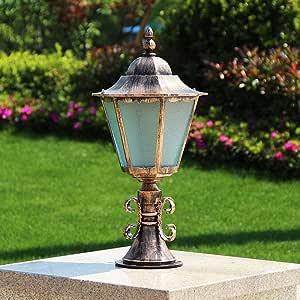 Amazon.com: WHYA 60cm Retro Outdoor Aluminium Path Lamp ...