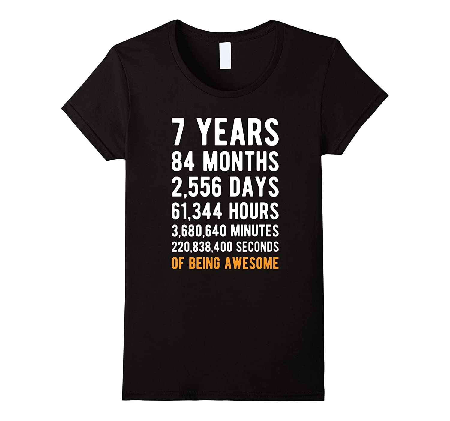 7th Birthday Gift T Shirt 7 Years Old Being Awesome Tee-Awarplus