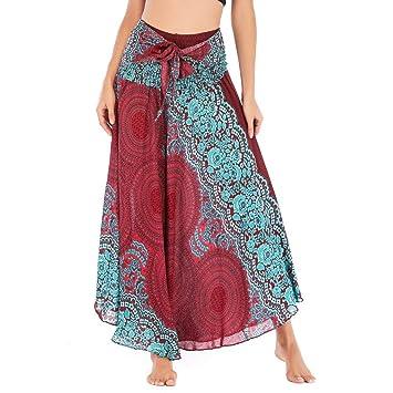 Rowentauk Falda de Danza de Vientre de Seda para Damas de algodón ...