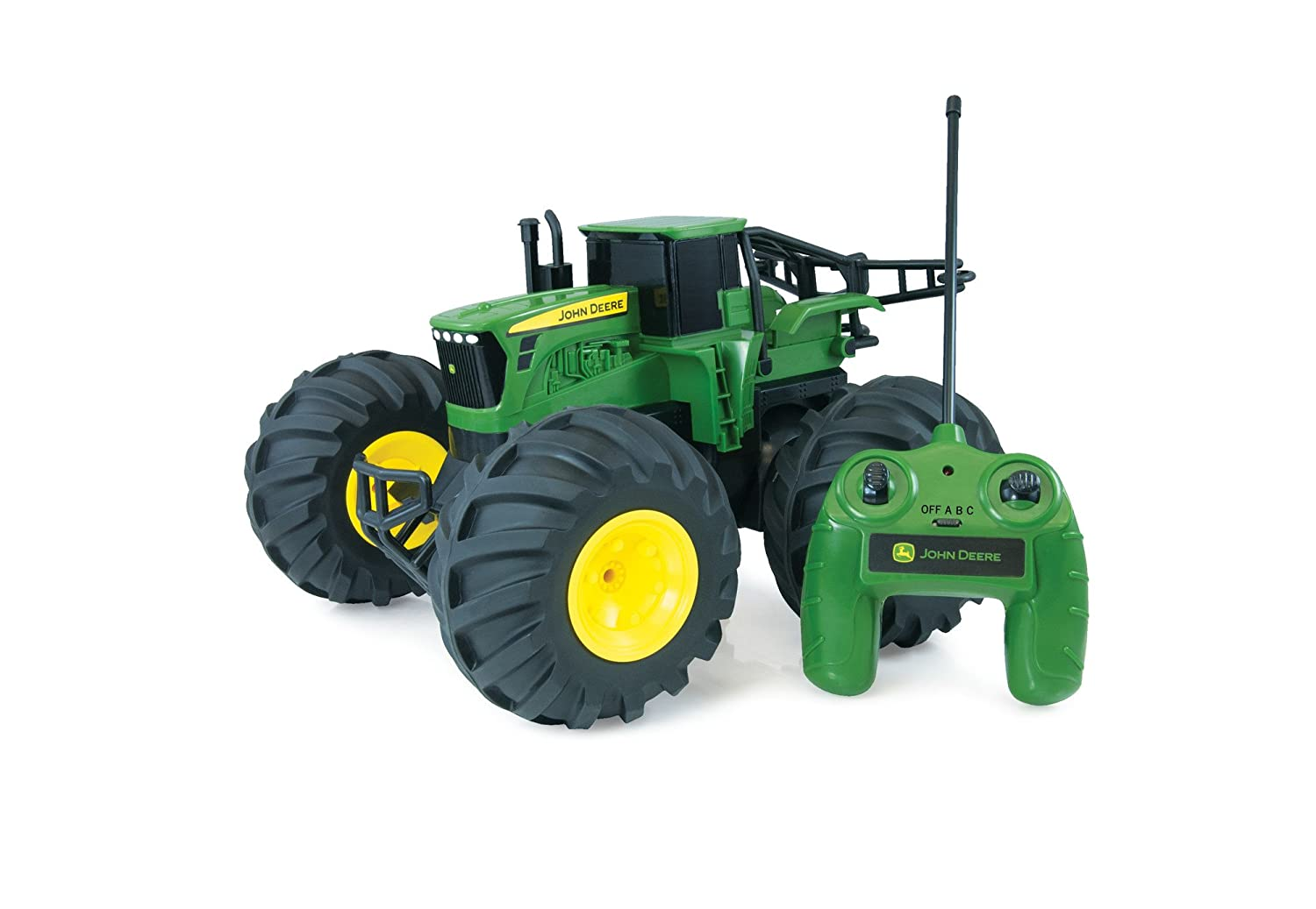 2a7134a6602 John Deere Monster Wheels Remote Controlled RC Giant Inflatable Wheels Farm  Toy 6 years plus: Amazon.co.uk: Toys & Games
