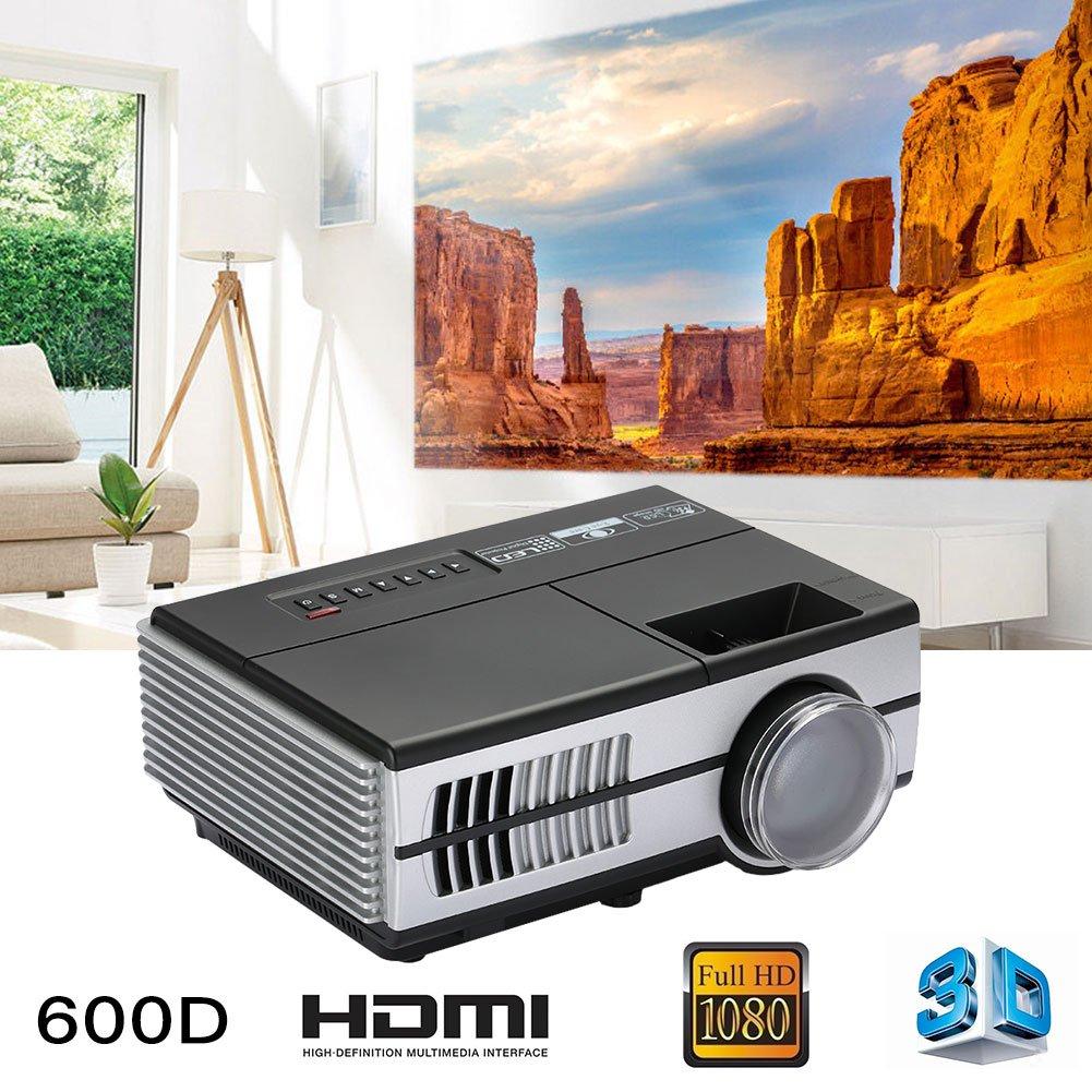 Haihuic WiFi Android Mini Projector、(AUプラグ)LCD画像システムポータブルホームビデオプロジェクターサポートHDMI 1080P、パーティー時間のワイヤレスプロジェクター B078397WTB  AU