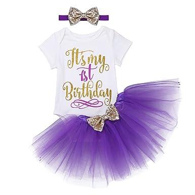 iiniim Tutú Niña Bebé 1 Años Cumpleaños Traje de Fiesta ...