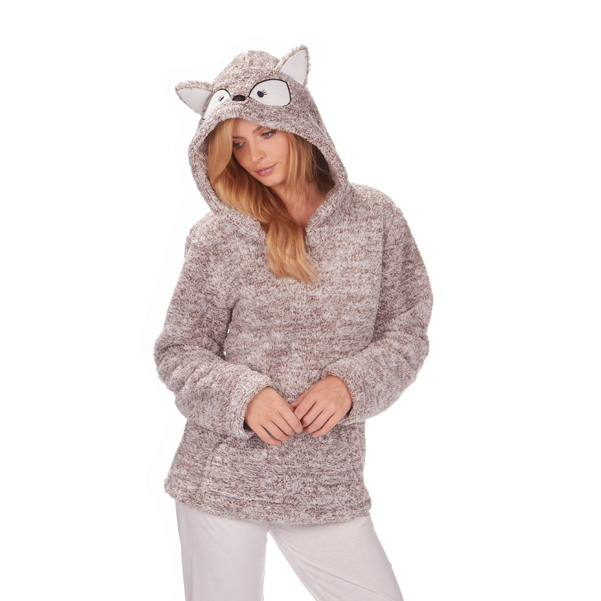 Forever Dreaming Womens Snuggle Top - Fleece Hood Bed Jacket