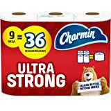 Charmin Ultra Strong Toilet Paper 9 Mega Roll, 286 Sheets Per Roll